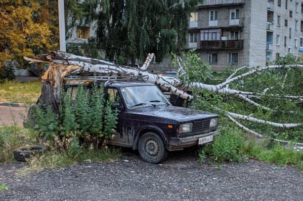 Не повезло владельцу машины...