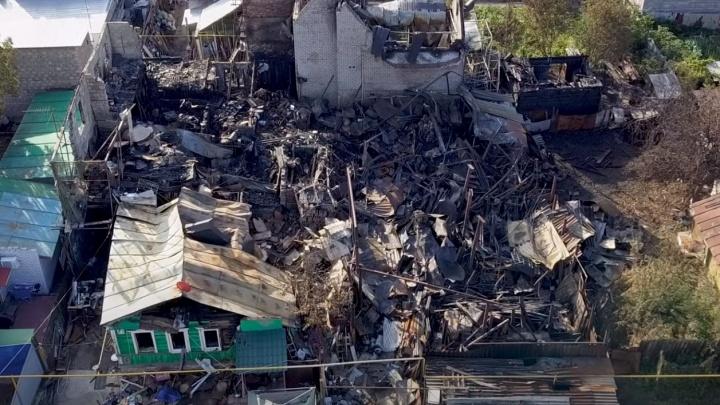 Руины и пепел: самарец снял последствия пожара в Запанском на видео с высоты
