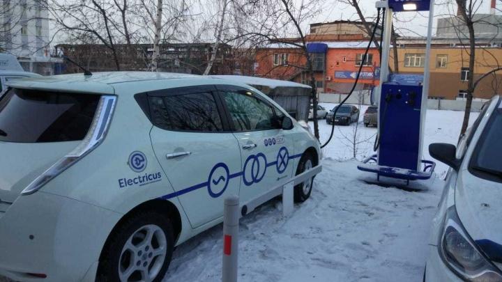 В Красноярске разработали и установили зарядную станцию для электрокаров, работающую в холода