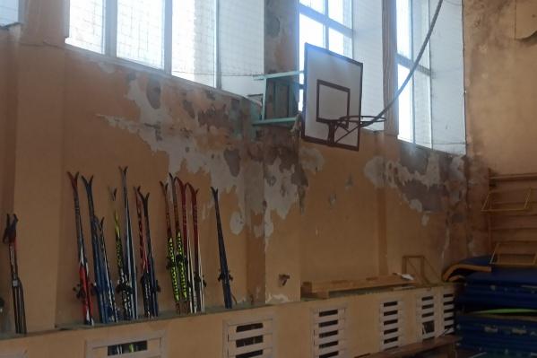 Так выглядит спортивный зал в школе