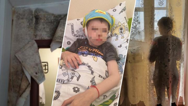 Маме ребенка-инвалида из Екатеринбурга дали квартиру с черной плесенью, в которой месяц лежал труп