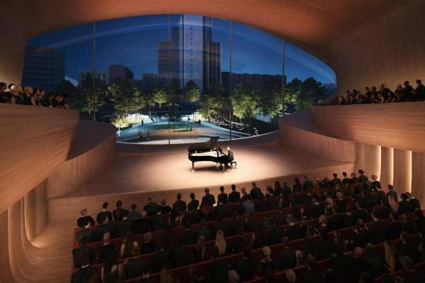 Сад Вайнера станет «задником» нового концертного зала