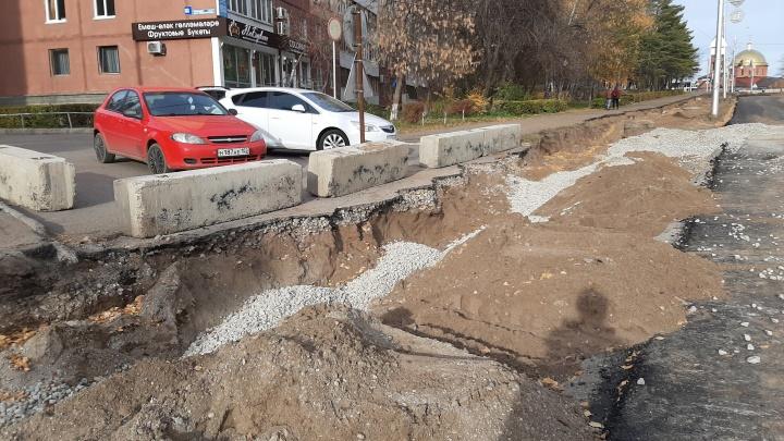 Уфимка потребовала мостик у дорожных строителей