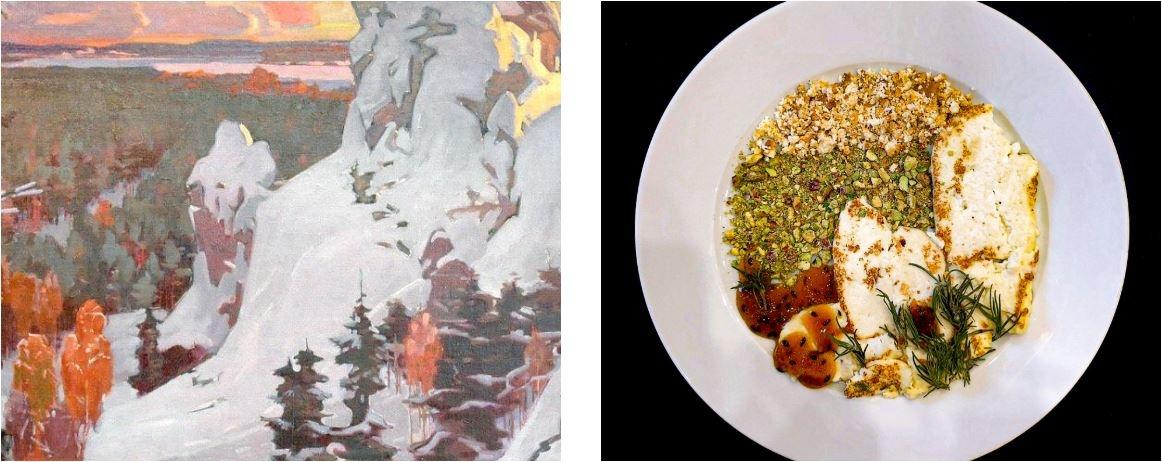 Вот как выглядит картина Виталия Беляева «Урал» в съедобном виде<br>