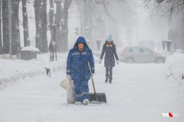 Пермь засыплет снегом