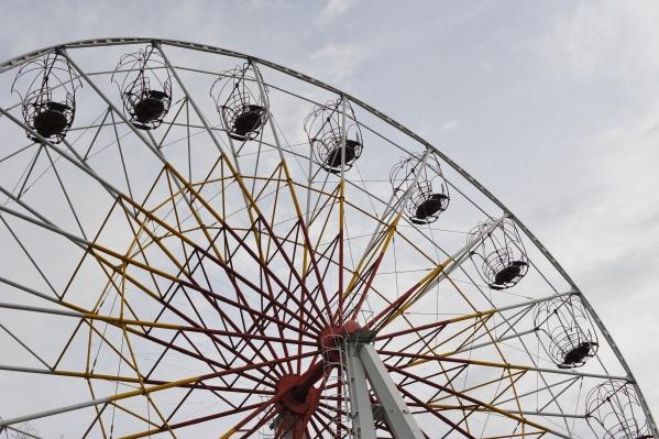 Совсем скоро достроят новое колесо обозрения, и на одно развлечение станет больше
