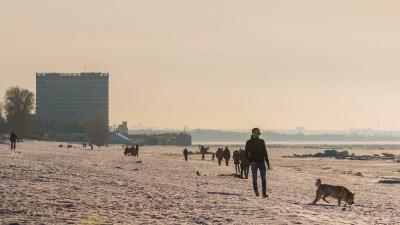 Весеннее солнце февраля! Любуемся необычными пейзажами самарской набережной