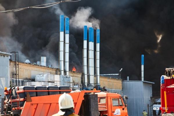 Пожар тушили трое суток