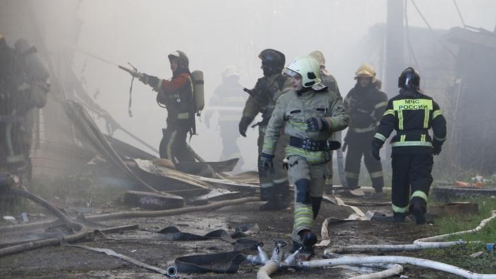 Огонь, дым, зеваки и собака: смотрим, как тушили пожар в центре Архангельска
