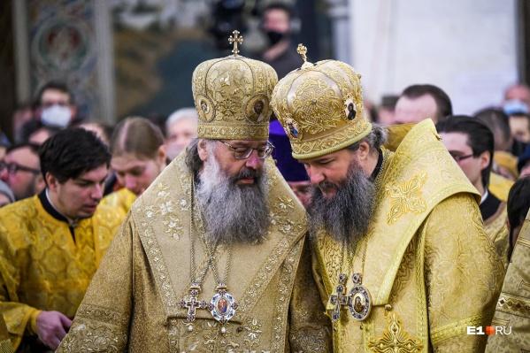 В Храме-на-Крови собралось все церковное и светское начальство Свердловской области
