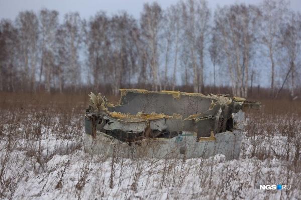 Такую деталь нашли примерно в 5 километрах от взлетной полосы, на которую приземлился самолет