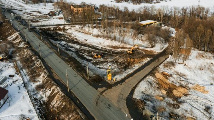 Из-за строительства второй очереди Фрунзенского моста в Самаре планируют перекрывать дороги