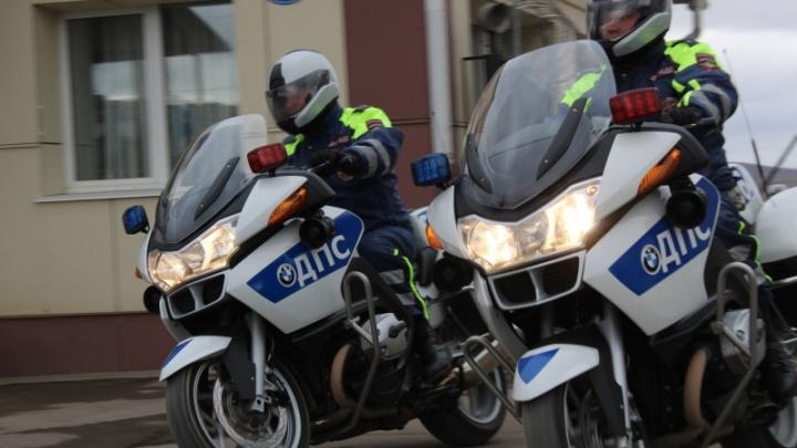Мотовзвод ДПС начал патрулировать улицы раньше срока
