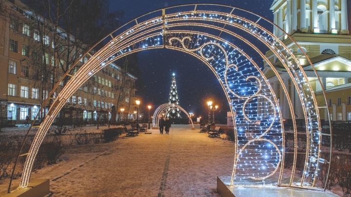 Космический портал и светодиодный фонтан. В мэрии Перми рассказали, как город украсят к Новому году
