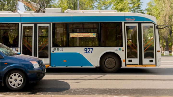 В Самаре пустят автобусы для замены сокращенного маршрута троллейбуса № 6