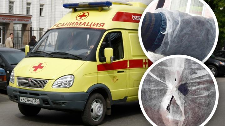 «Халат из паутинки, перчаток нет»: водители челябинской скорой показали, в чём ездят на вызовы по COVID-19