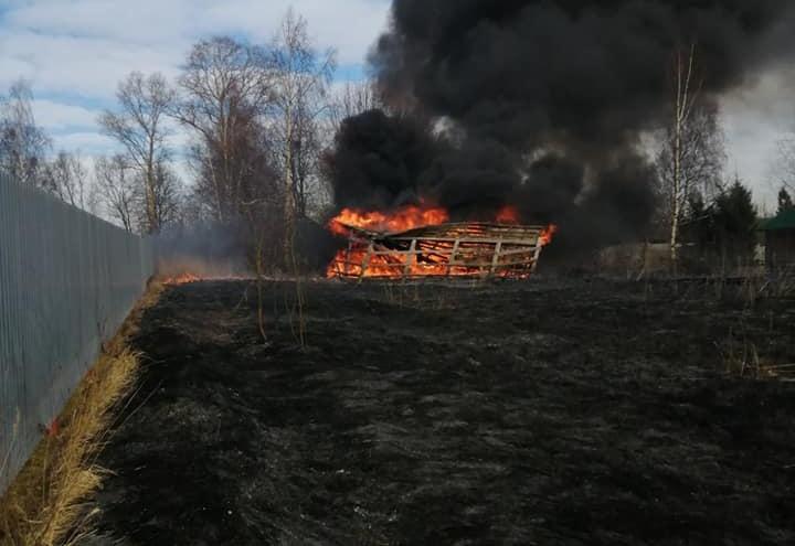 «Успели вытащить собаку»: в Гаврилов-Ямском районе спалили дом