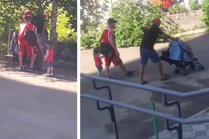 Спустя 4 дня нашли укравших с помощью детской коляски крышку от люка