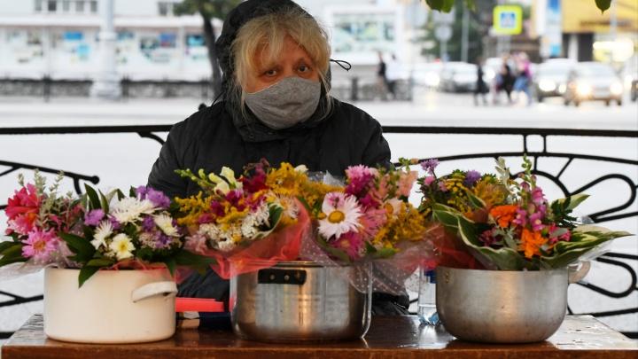 «Если продать не удастся, раздадим прохожим»: репортаж с рынка цветов в Екатеринбурге