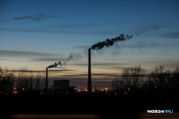 Над Красноярском почти всегда виден дым из труб