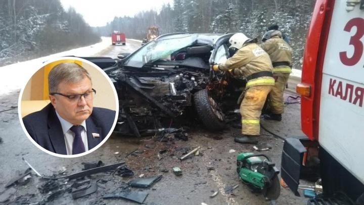 «От удара машина загорелась»: как произошло ДТП, в котором погиб спикер Ярославской областной думы