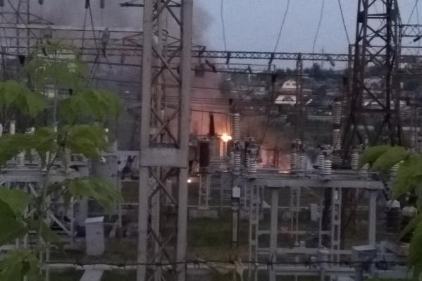 После пожара в нескольких домах пропадало электричество