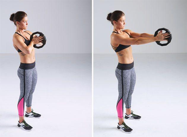 В момент выполнения работают все мышцы пресса и спины, а также руки, плечи и грудные мышцы