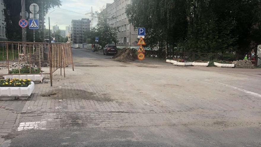 В Архангельске для проезда открыли участок улицы Володарского — его обещали отремонтировать в июле