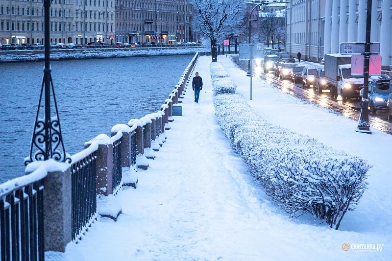 В начале декабря петербуржцы еще могли радоваться снегу. Санкт-Петербург, 2 декабря 2019 года