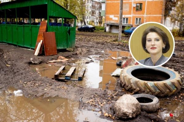 Глава администрации Дзержинского района Екатерина Мусинова говорит о проблемахвслух