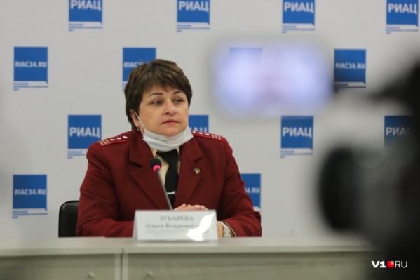 Ольга Зубарева отметила рост заболеваемости среди работающих волгоградцев и пенсионеров