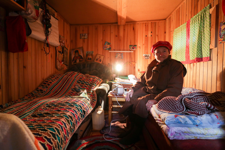 Галина Васильевна, потерявшая дом после удара молнии
