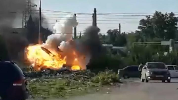«Рвануло!»: появилось видео взрыва машины в Тольятти