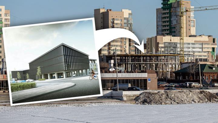На набережной Миасса в центре Челябинска началась большая стройка, но это не конгресс-холл