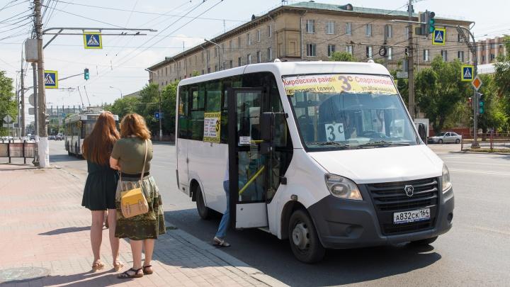 В Волгограде маршрутное такси № 3с убрали с улицы Буханцева