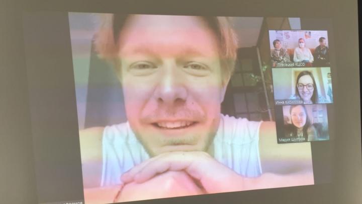 Актёр Никита Ефремов пообщался с жителями Плесецкого района по видеосвязи