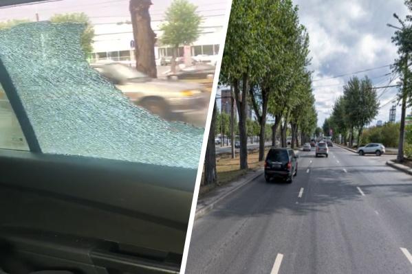 Женщина считает, что по машине стреляли из страйкбольного оружия