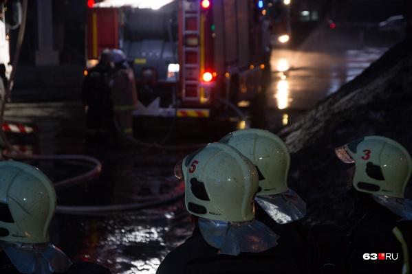 В тушении принимали участие несколько пожарных расчётов