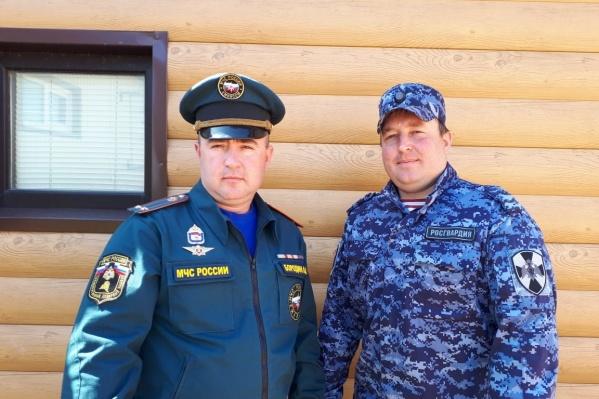 Павел и Андрей Бородины — офицеры Росгвардии и МЧС