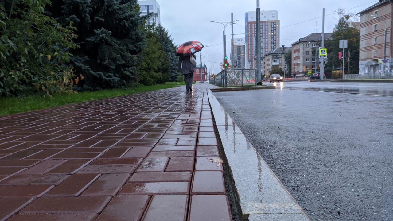 Щели не заполнены. Получается, что при проектировании, при определении ширины тротуара, не учитывали размеры используемых материалов. Ведь можно было спроектировать так, чтобы плитки четко входили и не пришлось бы класть обрезки плиток