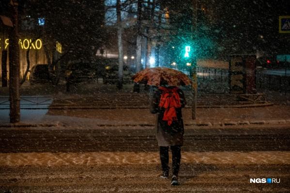 В Новосибирск, наконец, пришла настоящая зима