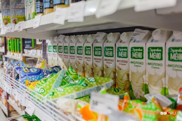 Заказать можно молоко и другие продукты из ассортимента магазинов
