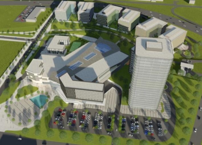 Так по плану проекта будут выглядеть жилой и офисный центры