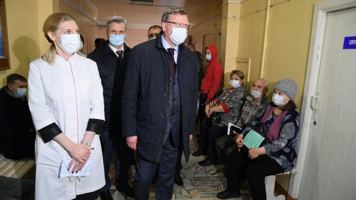 Губернатор оценил готовность к запуску центра лечения ковидных пациентов в Калачинской ЦРБ