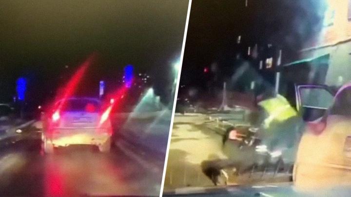 «Еле держалась на ногах»: в Самаре полиция устроила погоню за пьяной женщиной на Nissan