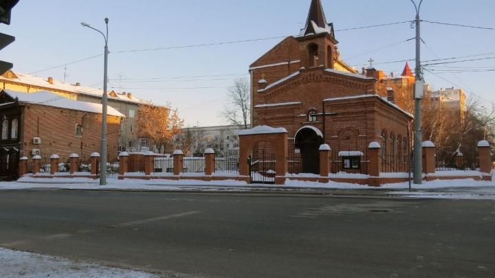 На Ленина сбили доставщика еды на велосипеде