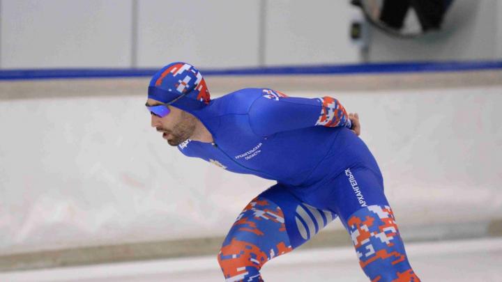 Конькобежец из Архангельска Александр Румянцев получил серебро на чемпионате России