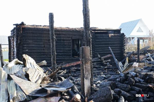 Пожар произошел в ночь на 11 октября