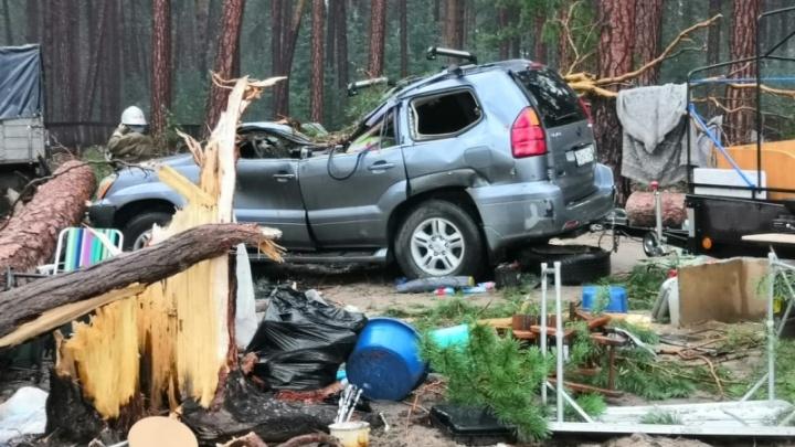 На озере Маслеево деревья попадали на палаточный лагерь: есть погибший и пострадавшие