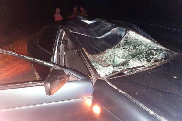 Машина получила серьезные повреждения